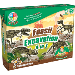 Fossil Excavation 4 in 1 Kit